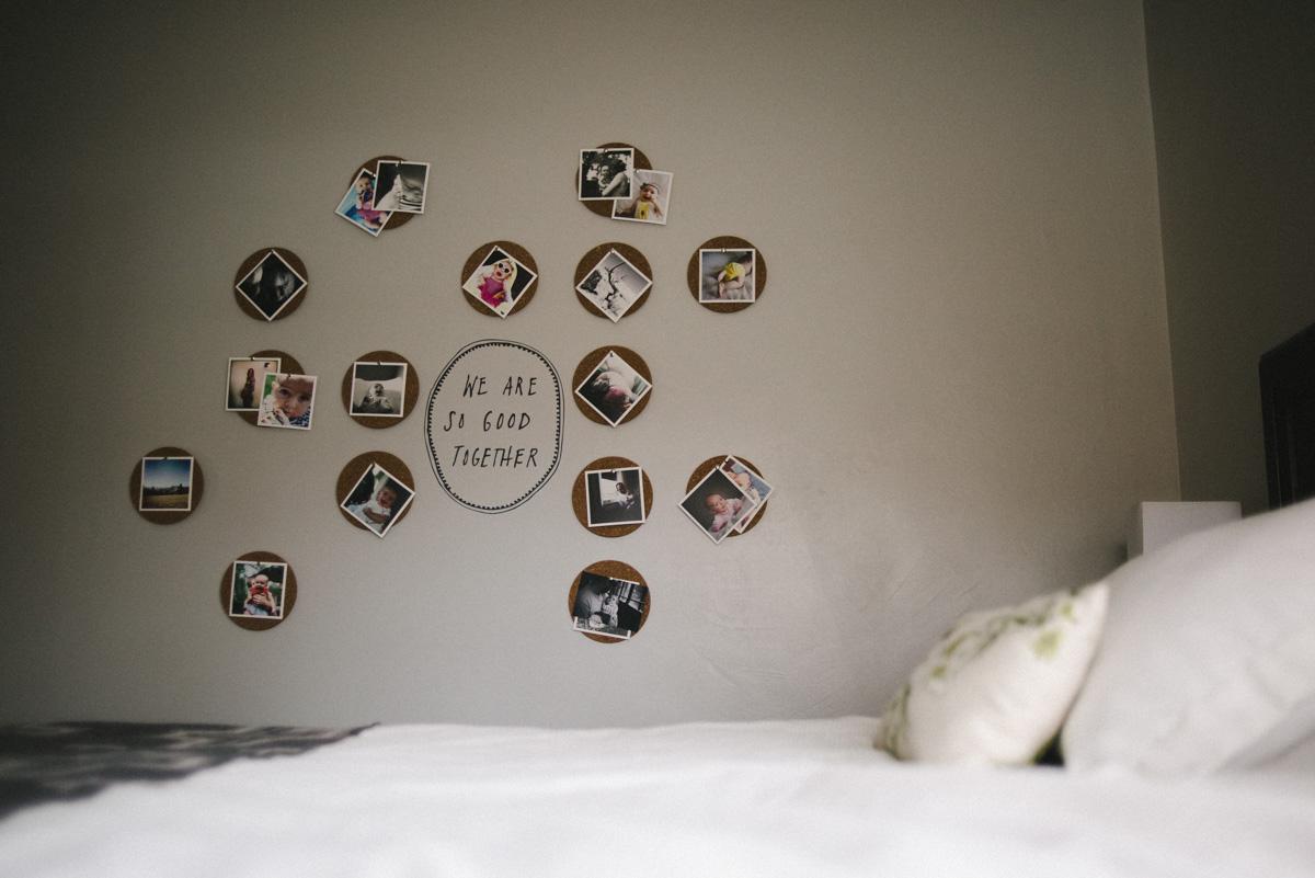 Cork board photo display-1